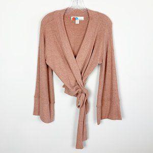 FP Beach | wrap oversized bell sleeve sweater XS